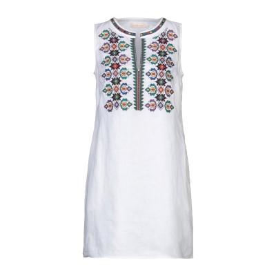 トリー バーチ TORY BURCH ミニワンピース&ドレス ホワイト S リネン 100% / ポリエステル ミニワンピース&ドレス