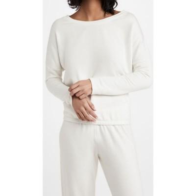 エバージェイ Eberjey レディース トップス Softest Sweats Slouchy Top Winter White