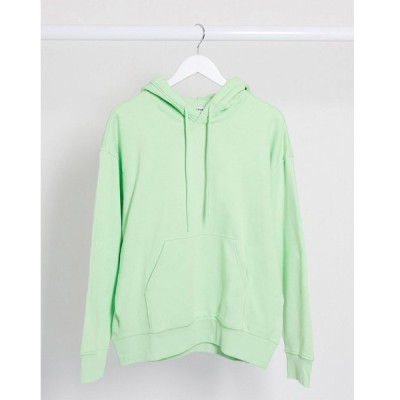 ウィークデイ パーカー スウェット レディース Weekday Alisa organic cotton oversized hoodie in light green エイソス ASOS グリーン 緑