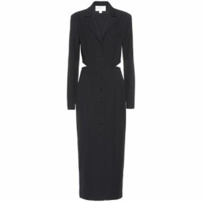 マテリエルティビリシ Materiel Tbilisi レディース ワンピース ワンピース・ドレス Cut-out twill dress Black