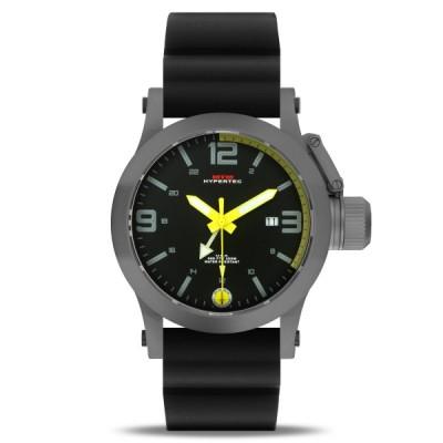 MTM WATCH HYP-SG4-YLLW-BR1S-A Hypertec 44 Grey - Yellow Dial - Black Rubber I- Silver Buckle