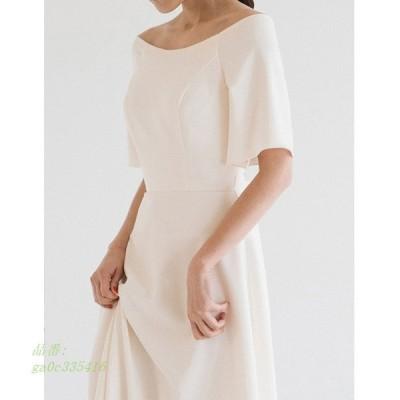 ウェティグドレス 大きいサイズ 挙式 発表会 二次会 結婚式 ロングドレス パーティードレス 前撮り おしゃれ 安い Aラインドレス ワンピース 半袖 花嫁