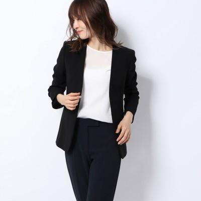 リネーム Rename ノーカラー七分袖ジャケット (ブラック)