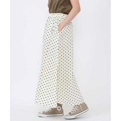 【コーエン】 プリントタックロングスカート# レディース OFFWHITE FREE coen