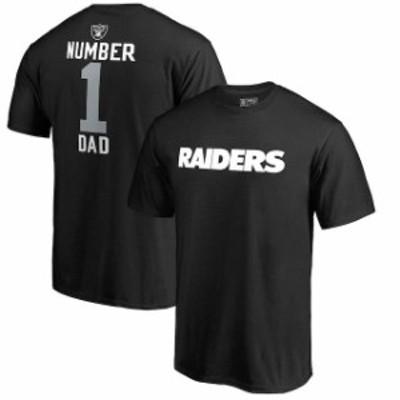 NFL Pro Line by Fanatics Branded エヌエフエル プロ ライン スポーツ用品  NFL Pro Line Oakland Raiders Black Number 1 Dad T-Shirt