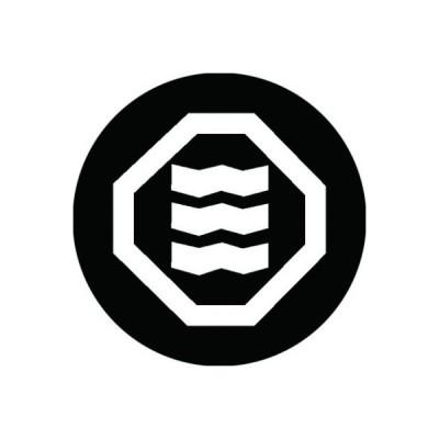 家紋シール 白紋黒地 折敷に縮み三文字 布タイプ 直径23mm 6枚セット NS23-2069W