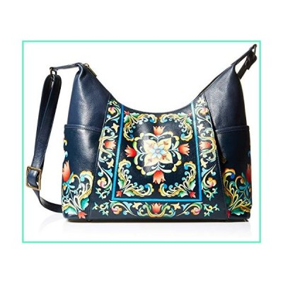 Anna by Anuschka Hand Painted Leather Women's Large Shoulder HOBO, tuscan Tiles並行輸入品