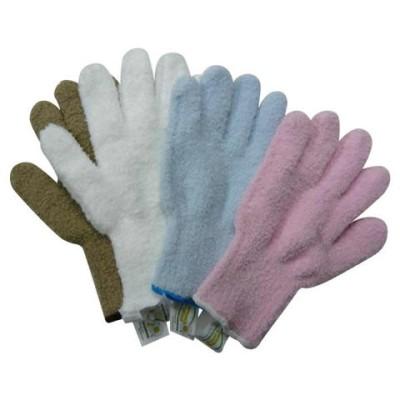ウルトラ・マイクロファイバー手袋 エコテックスタグ付き×4色セット(KE702-WH・SB・BE・PK)  掃除用品【同梱不可】[▲][AB]