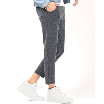 【ラグスタイル】 テーパードヘリンボーンアンクルパンツ/テーパードパンツ メンズ アンクルパンツ ヘリンボーン スーツ メンズ ネイビー M LUXSTYLE