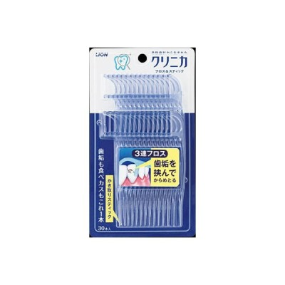 ライオン  クリニカ フロス&スティック  30本×60個【送料無料】【オーラル】【歯磨き】【歯ブラシ】