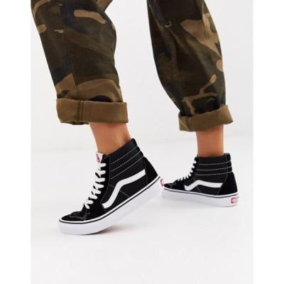 バンズ レディース スニーカー シューズ Vans SK8-Hi black sneakers