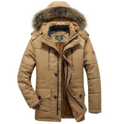 4色 メンズ 中綿ジャケット 中綿コート モッズコート 冬物   モッズコート    防寒   裏起毛 厚手  お兄系  フード取り外せ可能  フェイクファー  L-7XL