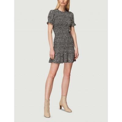 ホイッスルズ WHISTLES レディース ワンピース ミニ丈 ワンピース・ドレス Yasmin spot-print shirred crepe mini dress MULTI COLOURED