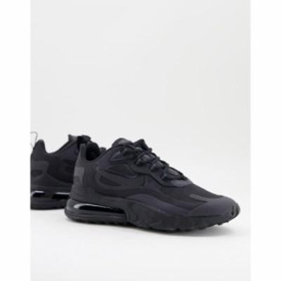 ナイキ Nike レディース スニーカー エアマックス 270 シューズ・靴 Air Max 270 React trainers in black and grey