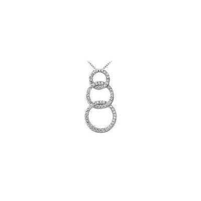 [新品]Diamond Circle Pendant 14K White Gold 0.75 CT Diamonds
