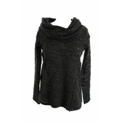 Sanctuary サンクチュアリ ファッション トップス Sanctuary New Black Long-Sleeve Cowl-Neck Marled-Knit XS