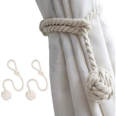 [2個セット] FUKUSHOP カーテンタッセル カーテンロープ カーテン留め飾り カーテンアクセサリー ロープタッセル 紐 締め 房掛け バックル