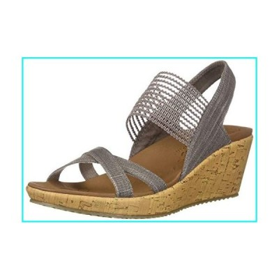 Skechers Women's Beverlee - High Tea wedge heeled strappy sandal, Mauve, 13 M US