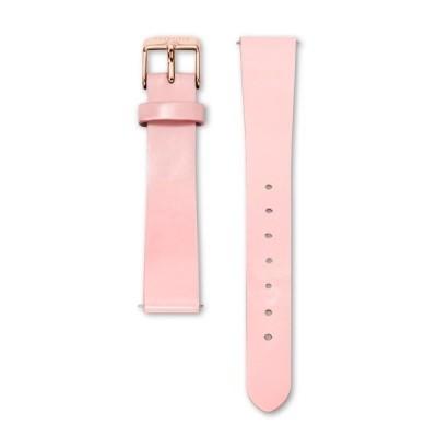 腕時計 《ROSEFIELD替えベルト/ローズフィールド替えベルト》The Premium Gloss 33mmケース用替えベルト 幅16mm ピンク