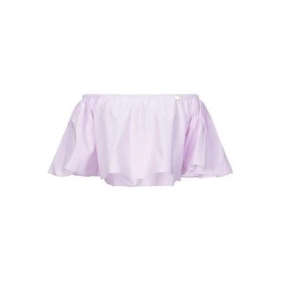 MANGANO ブラウス ファッション  レディースファッション  トップス  シャツ、ブラウス  長袖 ライラック
