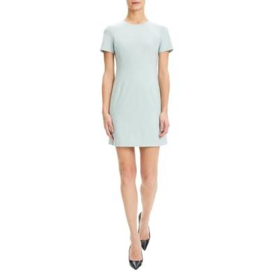 セオリー レディース ワンピース トップス Jatinn Short-Sleeve Good Wool Suiting Dress