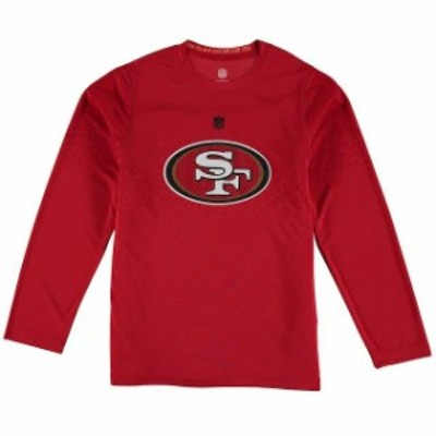 Outerstuff アウタースタッフ スポーツ用品  San Francisco 49ers Youth Scarlet Tactical Assault Dri-Tek Synthetic Lon
