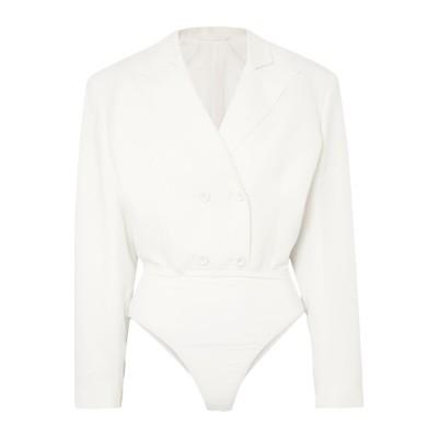 BEN TAVERNITI™ UNRAVEL PROJECT テーラードジャケット ホワイト 40 コットン 97% / ポリウレタン 3% / レ