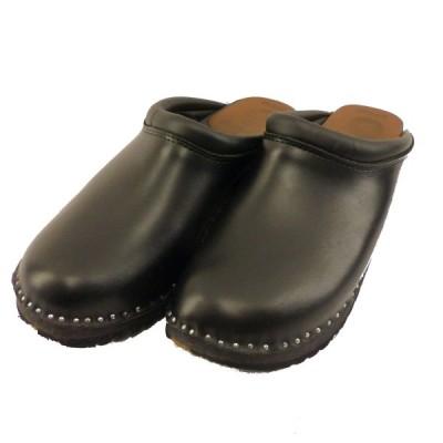 TROENTORP wedish Clog - Plain Toe / Smooth ブラック サイズ:40 (なんば店) 200303