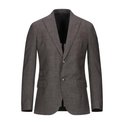 イレブンティ ELEVENTY テーラードジャケット ダークブラウン 48 ウール 71% / シルク 15% / リネン 14% テーラードジャケ