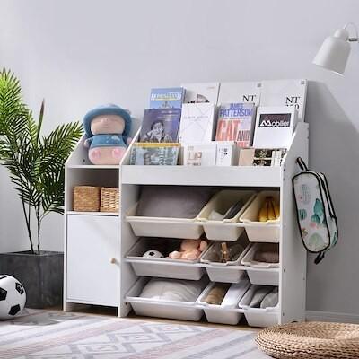 絵本棚 絵本ラック おもちゃ おもち収納 木製 引き出し 玩具箱 ラック ボックス 大容量 子供部屋
