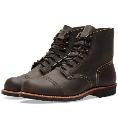 "レッドウィング Red Wing メンズ ブーツ シューズ・靴 8086 Heritage 6"" Iron Ranger Boot Charcoal Rough/Tough"