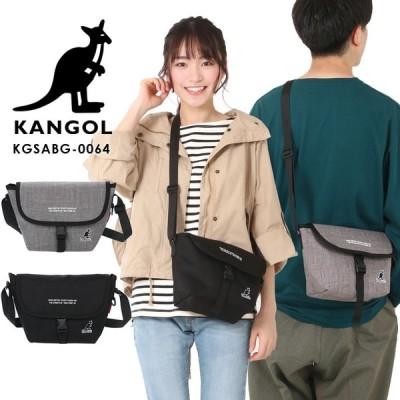 KANGOL カンゴール ショルダーバッグ ミニメッセンジャー メッセンジャーバッグ A5 ショルダー サコッシュ バッグ レディース メンズ ブラック メール便送料無料