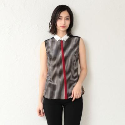 【GUILD PRIME】WOMEN カラーノースリーブブロッキングシャツ