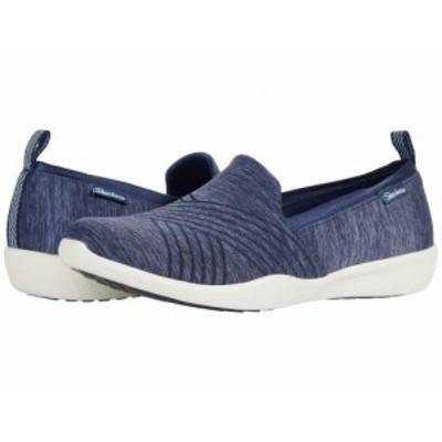 SKECHERS スケッチャーズ レディース 女性用 シューズ 靴 スニーカー 運動靴 Newbury St. Navy【送料無料】