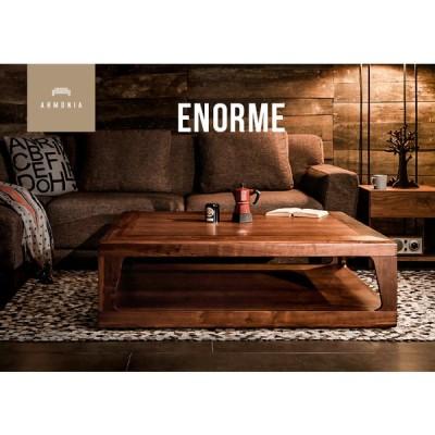 センターテーブル リビングテーブル 1200 Enorme 木製 収納 ナチュラル 正方形 北欧 モダン アルモニア
