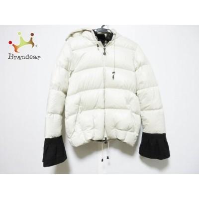 スノーマンニューヨーク ダウンジャケット サイズS レディース - 白×黒 長袖/ジップアップ/冬    値下げ 20211009