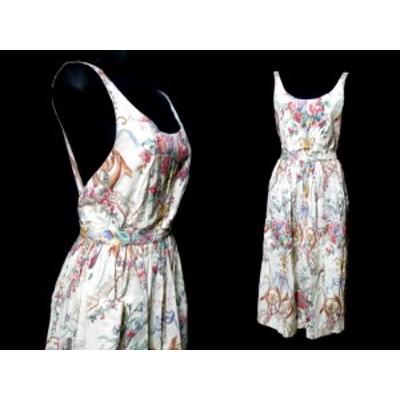 Polo Ralph Lauren ポロ ラルフローレン「7」カントリーフラワー ジャンパースカート・ワンピース (花柄) 060841