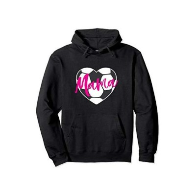Soccer Ball Heart Mama Mom Fan Parent Valentine's Day Pullover Hoodie