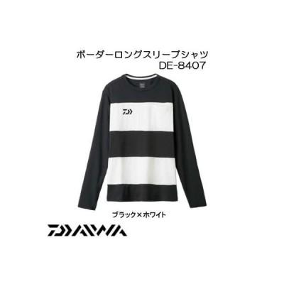 ダイワ(Daiwa) 釣り シャツ 長袖 ボーダー DE-8407 ブラック×ホワイト L