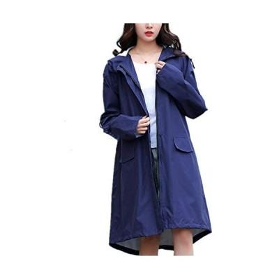 SCILLO レディース レインコート レインポンチョ 雨具 袖付き 綺麗 可愛い おしゃれ 軽量 撥水加工 防風 防水 防汚