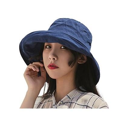 (アーバン ココ)[Urban CoCo]日よけ 帽子 レディース つば広 ハット uvカット あご紐付き 折りたたみ サイズ調節