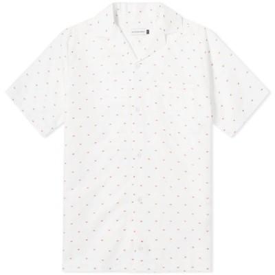 ポップトレーディングカンパニー Pop Trading Company メンズ 半袖シャツ トップス Hugo Shirt White/Red