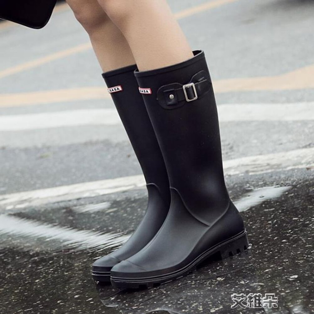長筒雨靴 英倫時尚雨鞋女士高筒防水雨靴長筒韓版雨鞋馬丁成人水鞋套鞋 清涼一夏钜惠