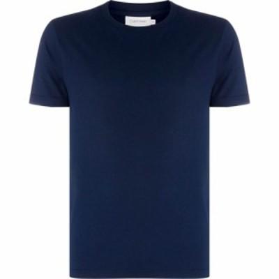 カルバンクライン Calvin Klein メンズ Tシャツ トップス Plain Crew Neck T Shirt Navy