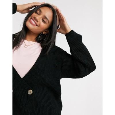 インザスタイル ニット カーディガン レディース In The Style x Lorna Luxe copenhagen knitted double breasted knitted cardigan in black エイソス ASOS ブ
