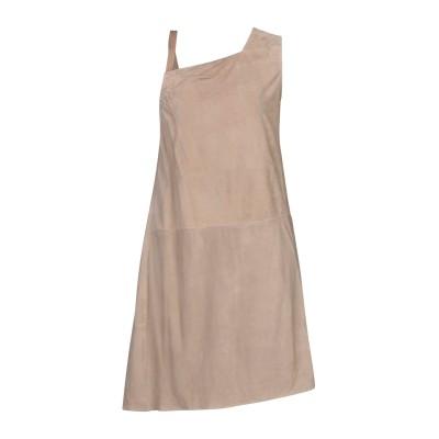 ブルネロ クチネリ BRUNELLO CUCINELLI ミニワンピース&ドレス サンド 42 革 / シルク ミニワンピース&ドレス