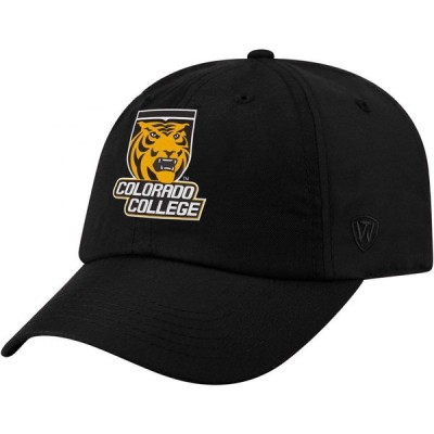 トップオブザワールド Top of the World メンズ キャップ 帽子 Colorado College Tigers Staple Adjustable Black Hat