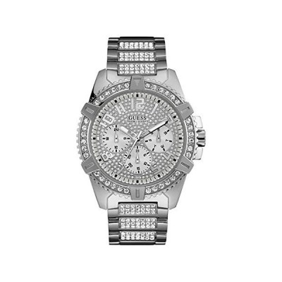 ゲス GUESS Frontier Quartz Crystal Silver Dial Men's Watch W0799G1 並行輸入品