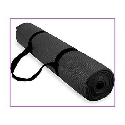 Spoga 1/4-Inch Anti-Slip Exercise Yoga Mat with Carrying Strap, Black【並行輸入品】