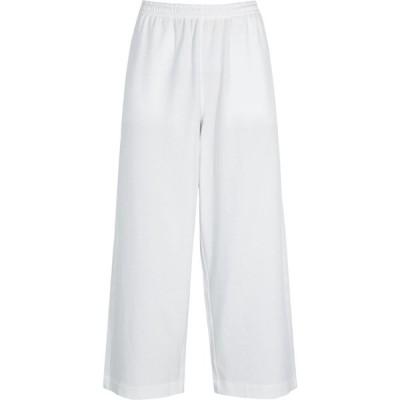 ヴィンス Vince レディース スウェット・ジャージ ボトムス・パンツ White cropped wide-leg cotton sweatpants White